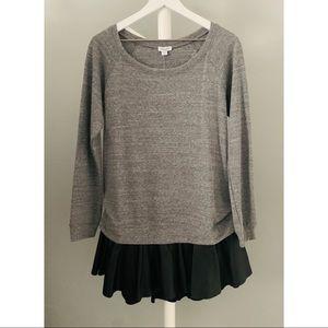 Splendid Faux Leather Sweatshirt Dress